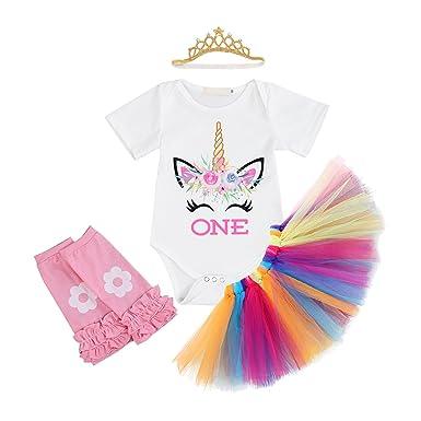 Obeeii Baby Madchen Einhorn Outfits Set Neugeborenen Strampler