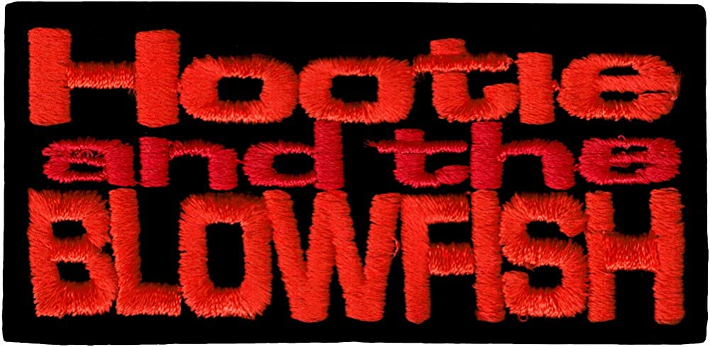 Hootie and the Blowfish Embroidered Iron On or Sew On Patch Orange and Red Logo on Black