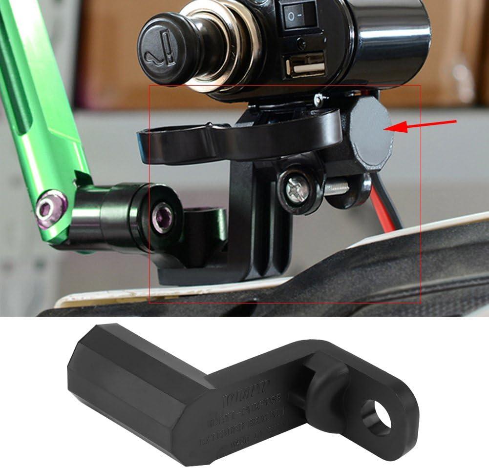 Fydun support dextension moto multi-fonctionnel r/étroviseur montage support dextension noir pour t/él/éphone portable GPS