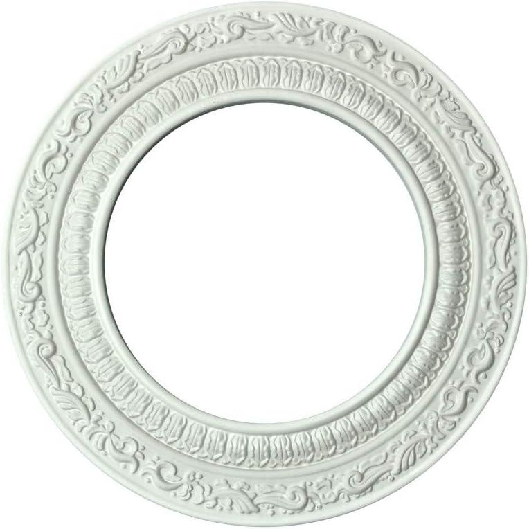 Recessed Spot Light Trim White Urethane Recess 6 Id X 10 Od Decorative Ceiling Medallions Amazon Com