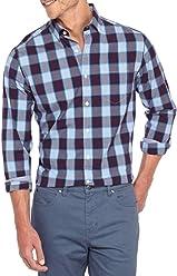 1116294ca6e9 Crown & Ivy Men's Big & Tall Long Sleeve Stretch Medium Plaid Shirt