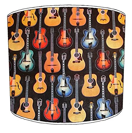 12 inch ceiling guitar print lampshade 11 amazon kitchen home 12 inch ceiling guitar print lampshade 11 aloadofball Images