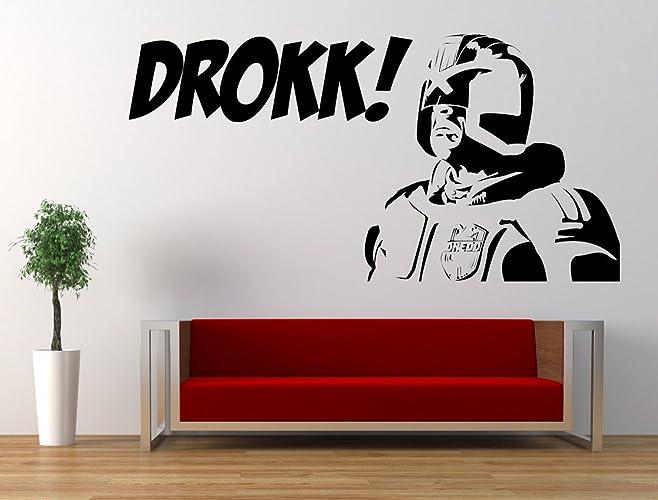 Judge dredd drokk quote vinyl wall art sticker decal 2000ad comic