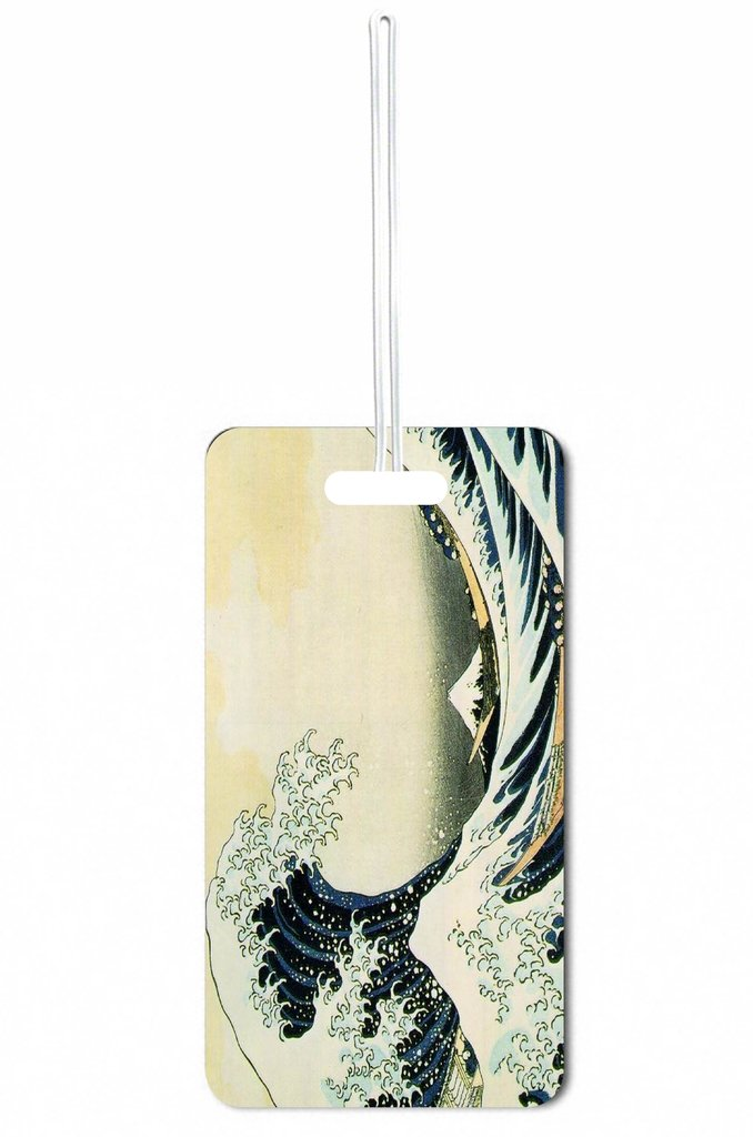 The Great Wave Off Kanagawa Rosie Parker Inc. Set of 8 Luggage Tags with Personalized Back