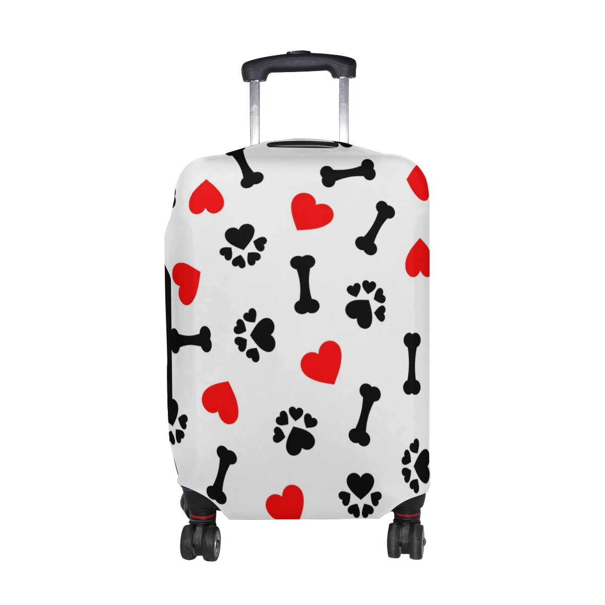 U LIFE Cute Vintage Dog Black And White Love Luggage Suitcase Cover Protector