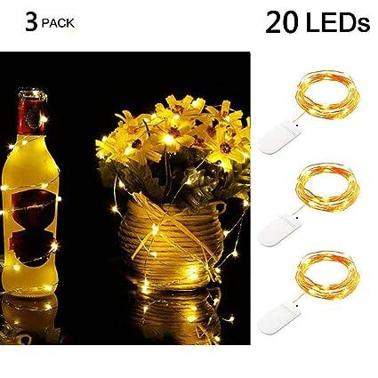 Amazon.com: Emptystar - Guirnalda de 3 luces LED de 20 ledes ...