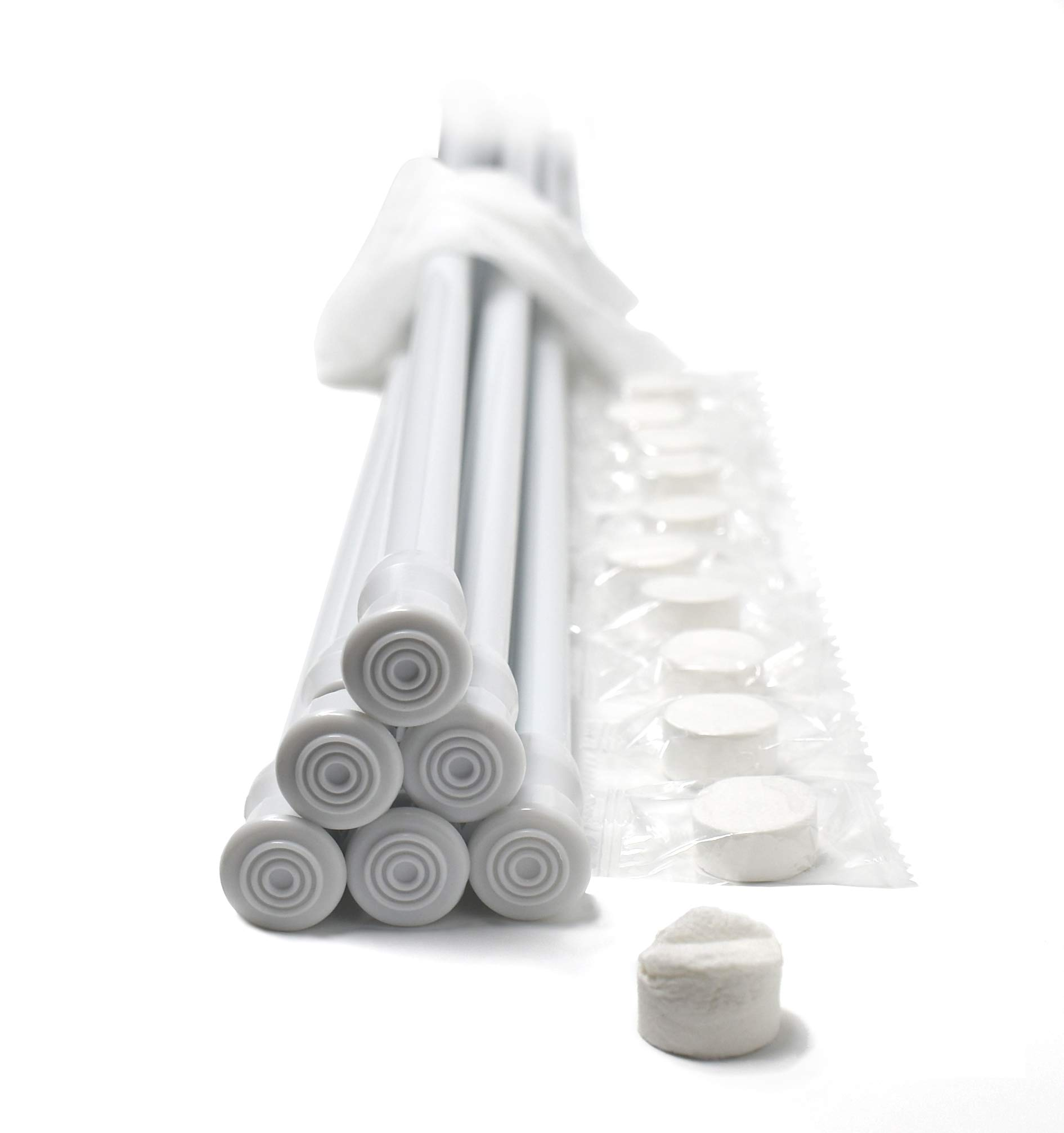 Danily Pack of 6 Cupboard Bars Adjustable Spring Loaded Tension Curtain Rods 28 to 48 Inches, White, Comes with Multipurpose Compressed Towels by Danily