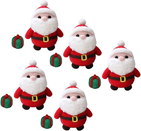 SM SunniMix Santa Claus Needle Felting Kit for Beginners with Basic Tools and Tutorials