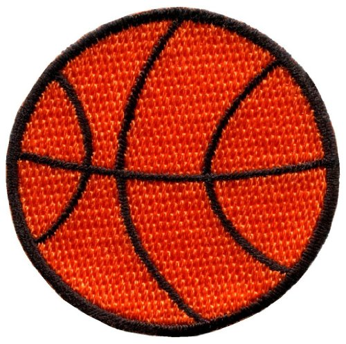 Basketball Applique (American Basketball Sports Retro Embroidered Applique Iron-on Patch New S-245 Handmade Design From Thailand)