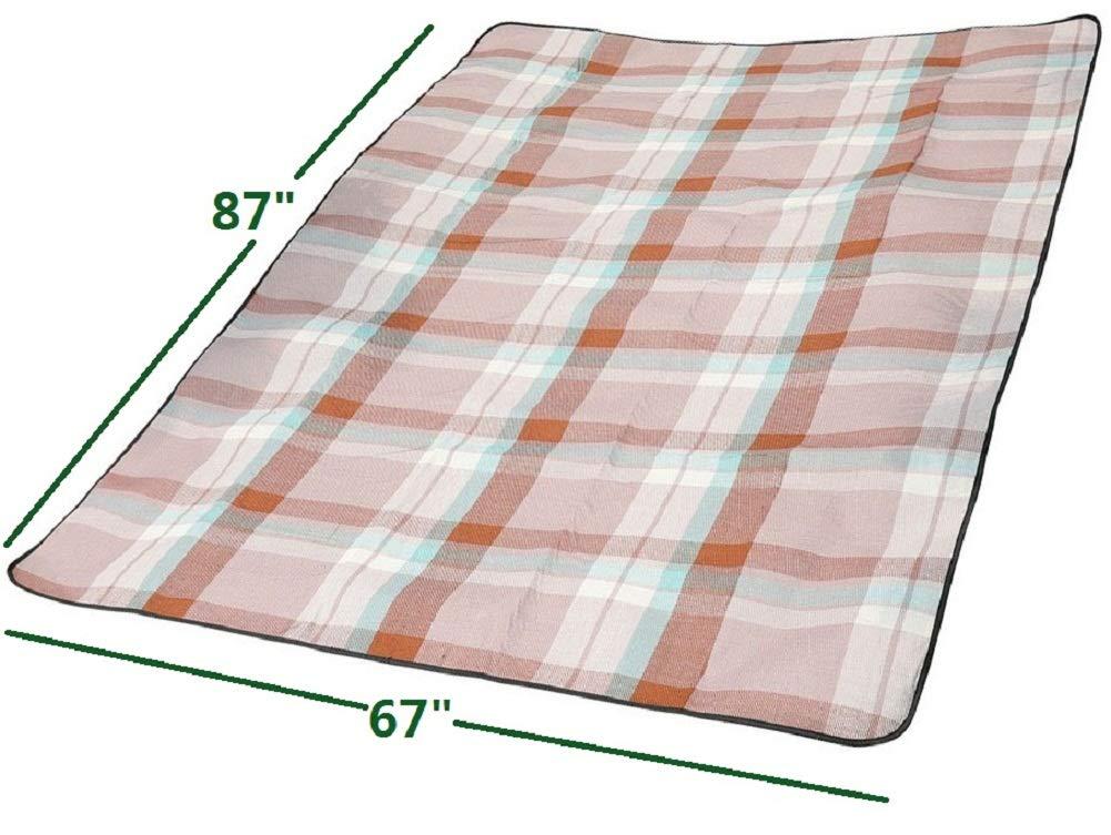 para c/ésped Pr/áctica Alfombrilla de Picnic de Estilo ingl/és Impermeable Manta de Picnic Extra Grande de 182,88 x 177,16 cm