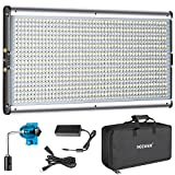 #6: Neewer Dimmable Bi-color LED with U Bracket Professional Video Light for Studio, YouTube Outdoor Video Photography Lighting Kit, Durable Metal Frame, 960 LED Beads, 3200-5600K, CRI 95+