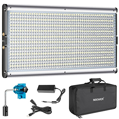 Neewer Dimmable Bi-Color LED Professional Video Light Studio, YouTube Outdoor Video Photography Lighting Kit, Durable Metal Frame, 960 LED Beads, 3200-5600K, CRI 95+