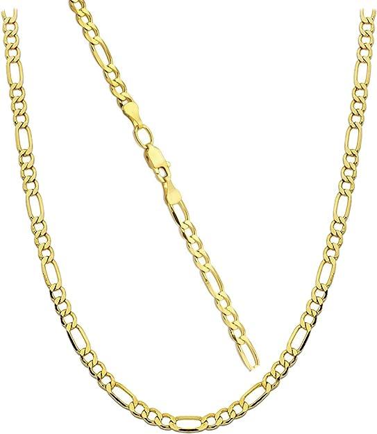 9ct Gold Figaro Chain  16,18,20,22,24,28,30 inch   9cn02