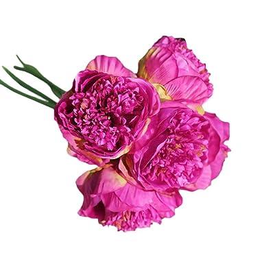 Timorly Unechte Blumen Kunstliche Deko Blumen Kunstseide Gefalschte