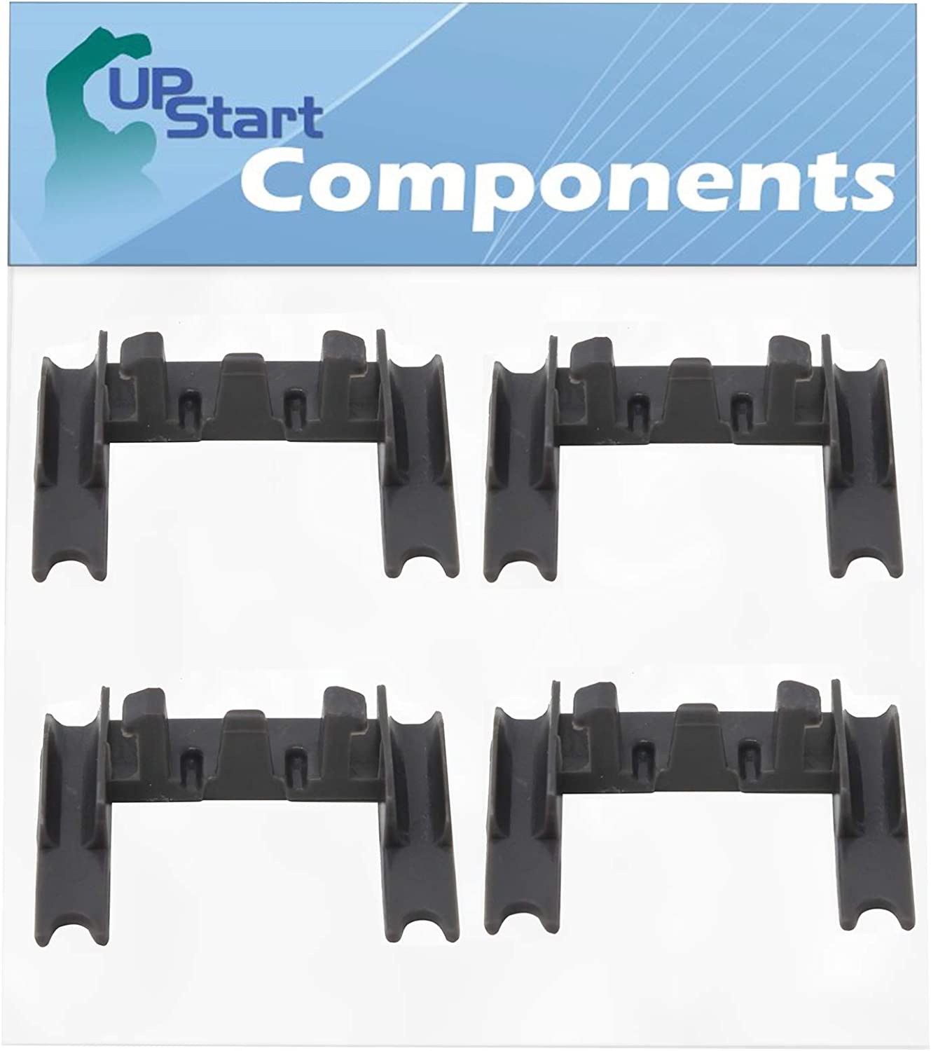 4-Pack W10250160 Dishwasher Rack Adjuster Arm Clip Lock Replacement for Kenmore/Sears 665.13973K015 - Compatible with WPW10250160 Stop Clip