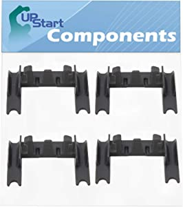 4-Pack W10250160 Dishwasher Rack Adjuster Arm Clip Lock Replacement for KitchenAid KUDS35FXSSA - Compatible with WPW10250160 Stop Clip
