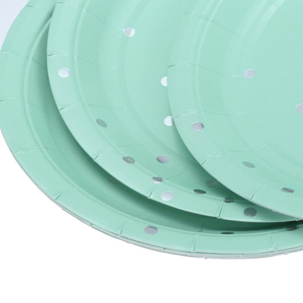 F Fityle Lot De 8 Dorures Dor/ées Jetables Assiette en Papier danniversaire Restauration Partie Vaisselle Rose