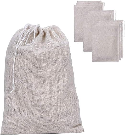 Paquete de 25 bolsas de muselina Bolsas de algodón con cordón ...