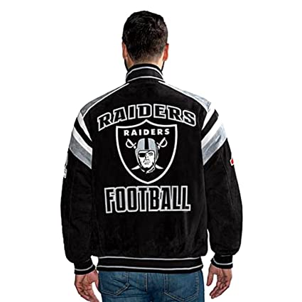 watch 49728 0ef4c G III Oakland Raiders Suede Jacket Leather NFL Raiders Coat asst sizes