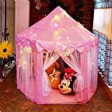 otmake Princess Tent Girls Play Tent with Cute Star Light String , Large Kids Play Tent for Children indoor and outdoor games