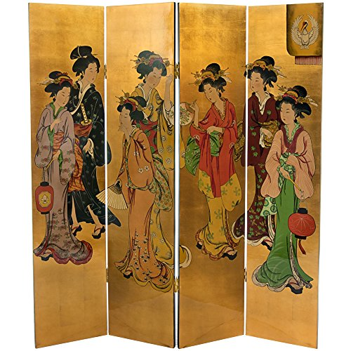 Oriental Furniture 6 ft. Tall Golden Geisha ()