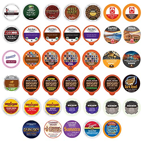 - 40Count BOLD & DARK ROAST COFFEE Single Serve Cups For Keurig K Cup Brewers Variety Pack Sampler (Bold Sampler)