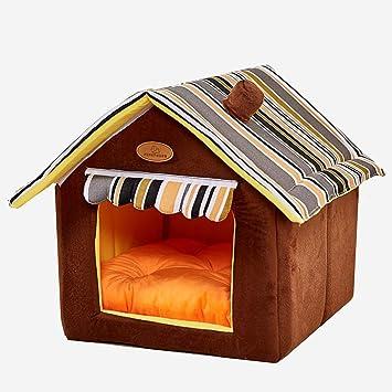 Interior Perrera Casa De Mascotas Lavable Cama Para Perros Y Gatos Con Una Estera, Habitación