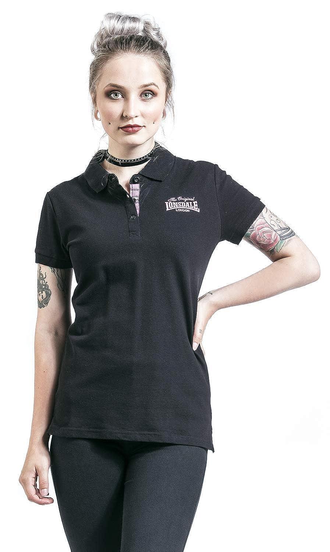 Lonsdale Women Polo Shirt Loxhill, Color:Black, Talla:2XL: Amazon ...