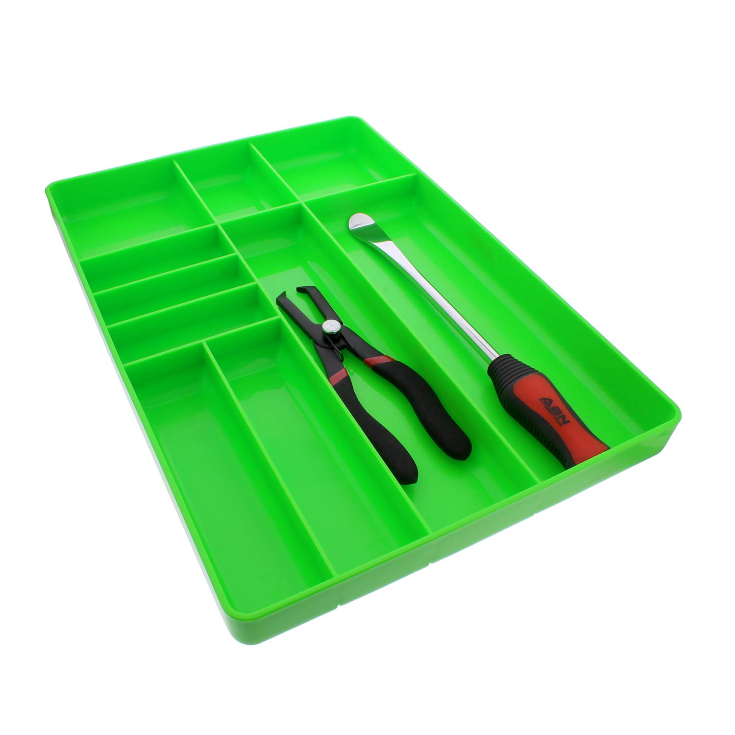 ABN | Toolbox Drawer Organizer Tool Organizer Tool Tray - Tool Drawer Organizer Sorting Tray, 16x11x1.5'' Inch in Green by ABN (Image #4)