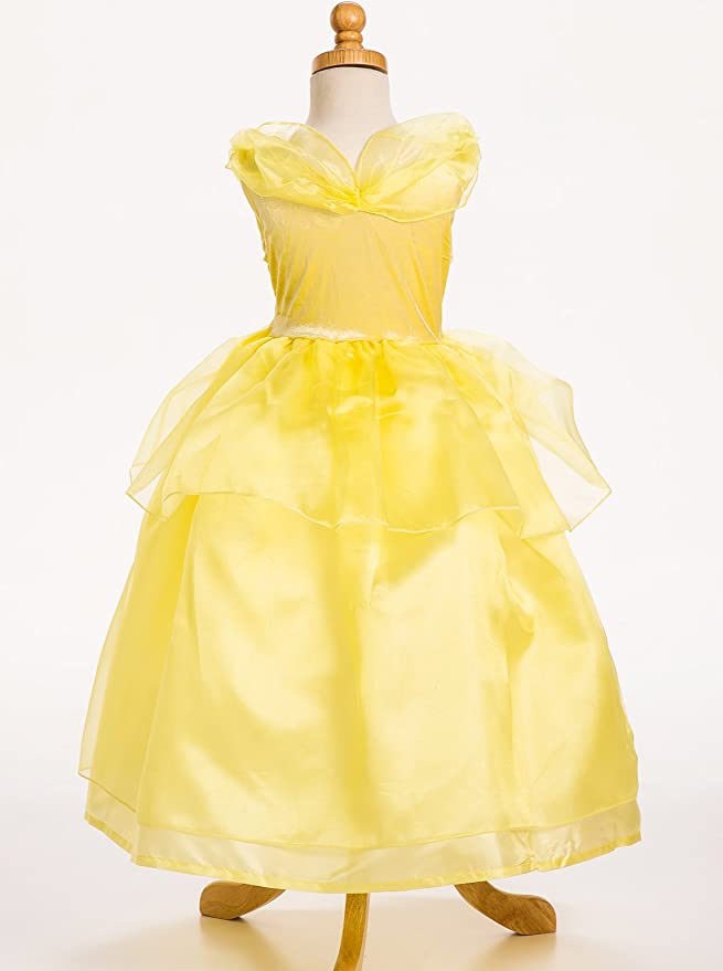 Amazon.com: Little Adventures Yellow Beauty Princess Dress Up Costume For Girls: Toys & Games