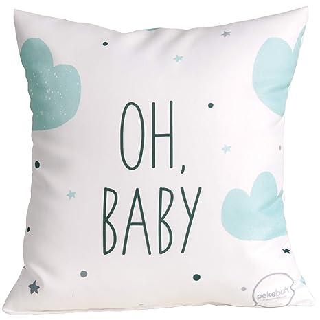 Cojín estampado (30 x 30 cm) OH BABY: Amazon.es: Bebé