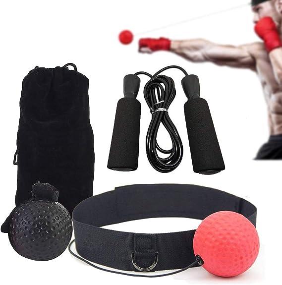 TooTaci - Balón de boxeo con cinta para la cabeza (2 niveles ...