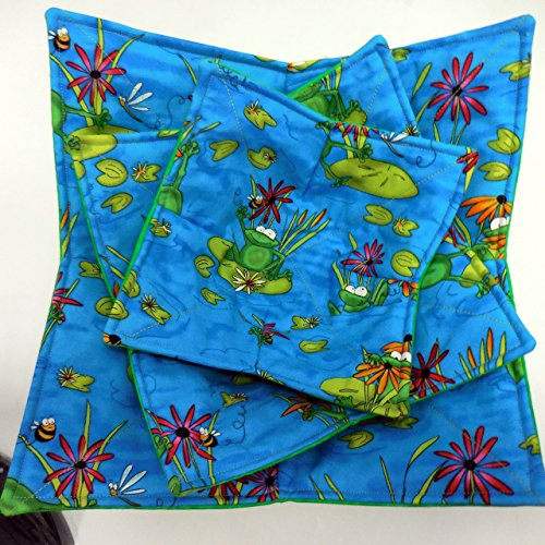 Playful Frogs Microwave Bowl Cozy / Set of all three (Playful Frogs)