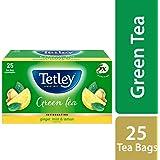 Tetley Green Tea, Ginger Mint Lemon, 25 Tea Bags