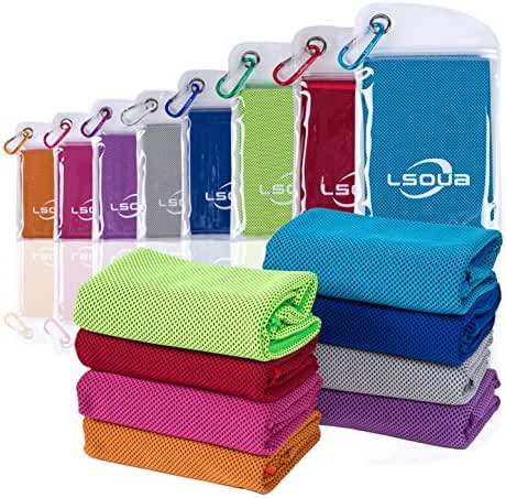Lsoua Super Absorbent Cooling Towel for Instant Relief - 40
