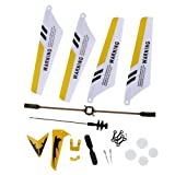 EastVita S107 Full Replacement Parts Set for Syma S107 RC Helicopter (Set of 19,Yellow)