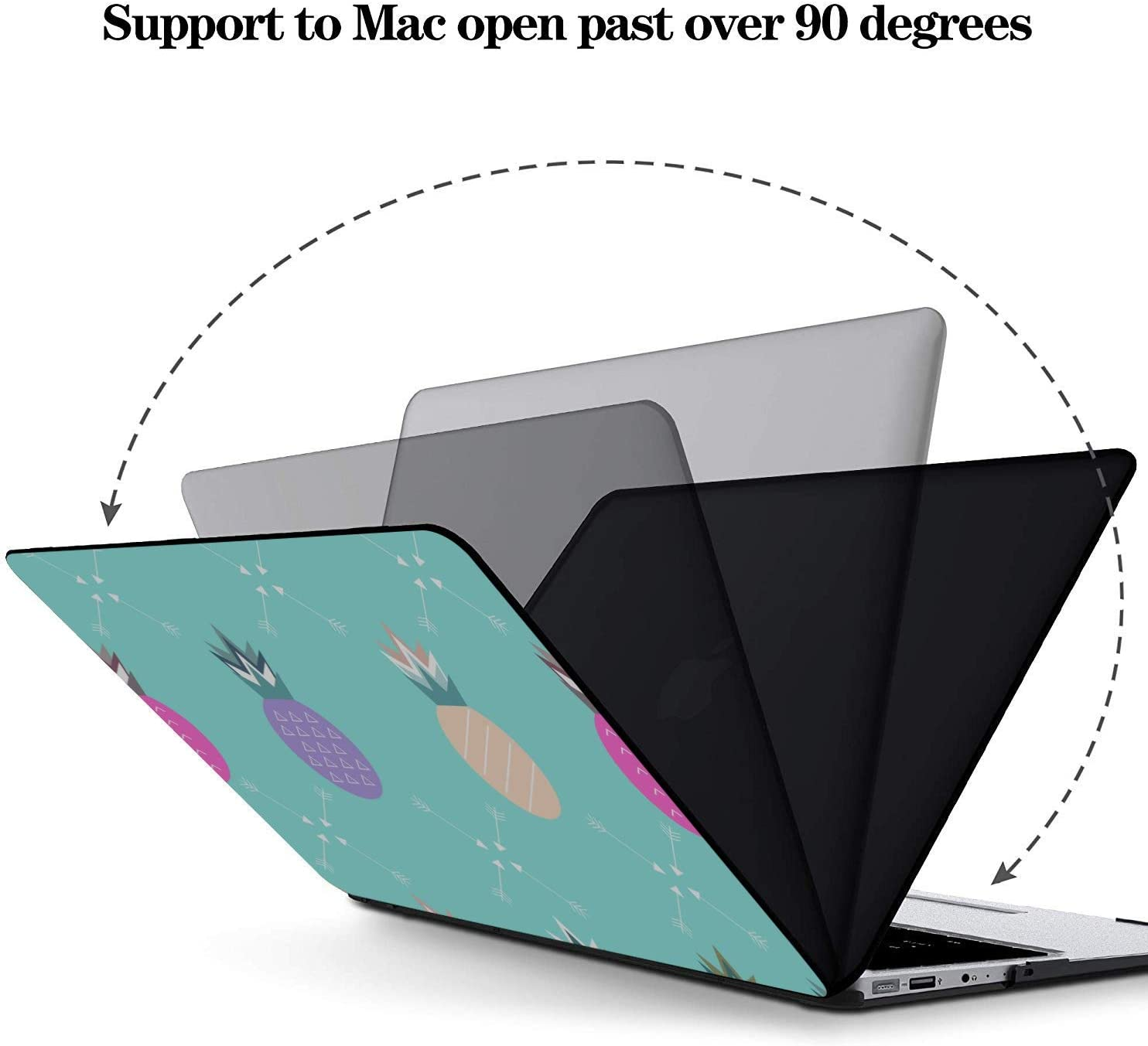 Mac Book Air Cover Summer Sweet Fresh Fruit Pineapple Plastic Hard Shell Compatible Mac Air 11 Pro 13 15 MacBook Pro13 Inch Case Protection for MacBook 2016-2019 Version