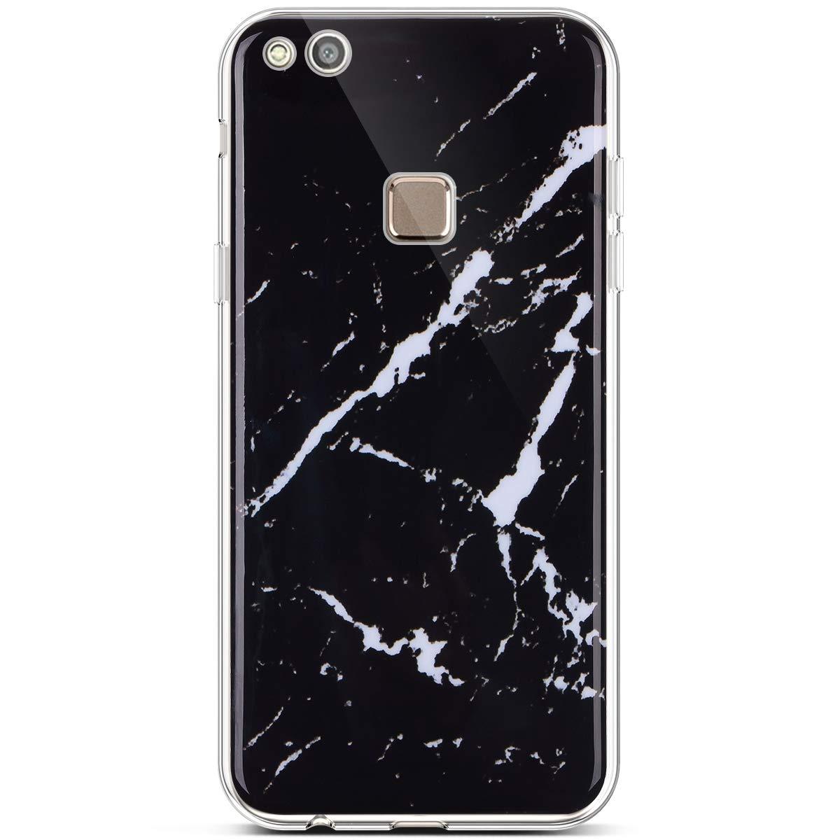 Felfy Kompatibel mit Huawei P10 Lite Marmor H/ülle,Ultra D/ünn Weich Gel TPU Silikon Handyh/ülle Silikonh/ülle Creative Marmor Muster Handytasche Kratzfest Sto/ßfest Schutzh/ülle Bumper Case Cover