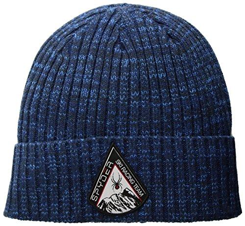 Spyder Men's Populous Hat, Frontier/Depth Blue/French Blue, ONE (Spyder Mens Logo Cap)