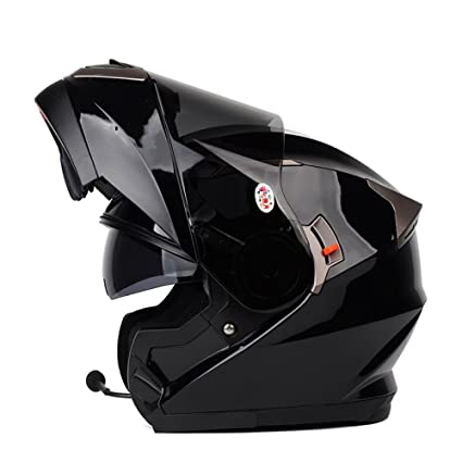 ZXCB Casco De Bluetooth De La Motocicleta De Las Señoras De Los Hombres Casco Respirable del