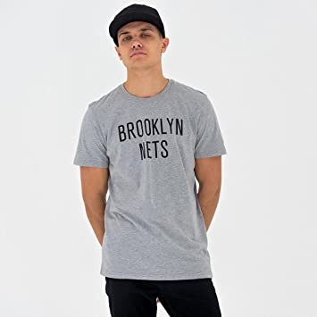 A NEW ERA Era NBA Team Apparel Pop Logo Bronet Camiseta, Unisex Adulto, Gris