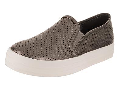 7f16940d5d3a Skechers Women s Double Up - Metallic Breeze Casual Shoe Silver   Amazon.co.uk  Shoes   Bags