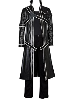Anime SAO Sword Art Online Kirito Kazuto Kirigaya Trench Manteau Cosplay Costume