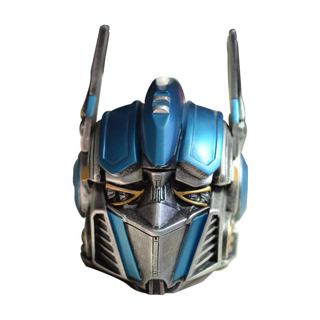WENTAO Transformers 5 Cenicero Optimus Prime con Tapa Nuevo Modelo Exótico Artesanías De Resina Caja De Almacenamiento Modelo Decoración [Clase de eficiencia energética A]