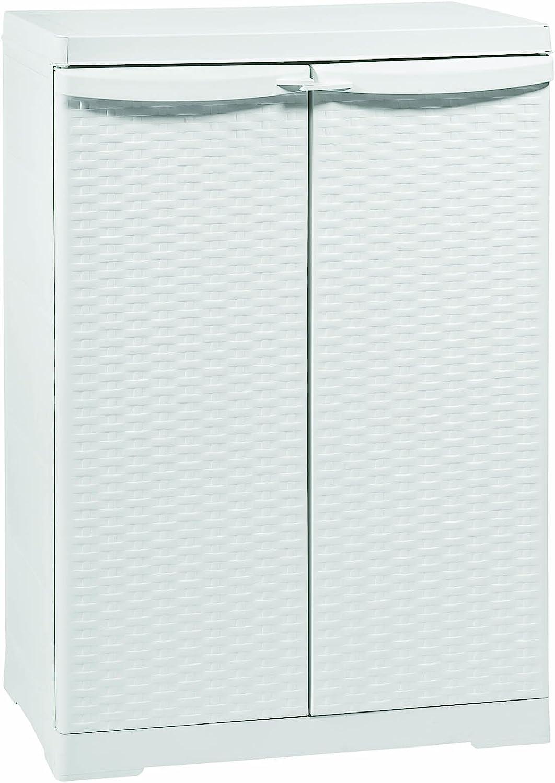 Trioplast - Mueble armario bajo de ratán, 65x 45x 90 cm