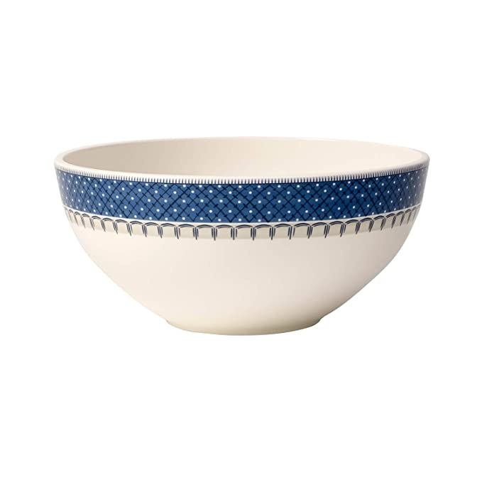 Villeroy /& Boch Casale BLU Plato Taza Moka Porcelana Premium 12cm Blanco//Azul
