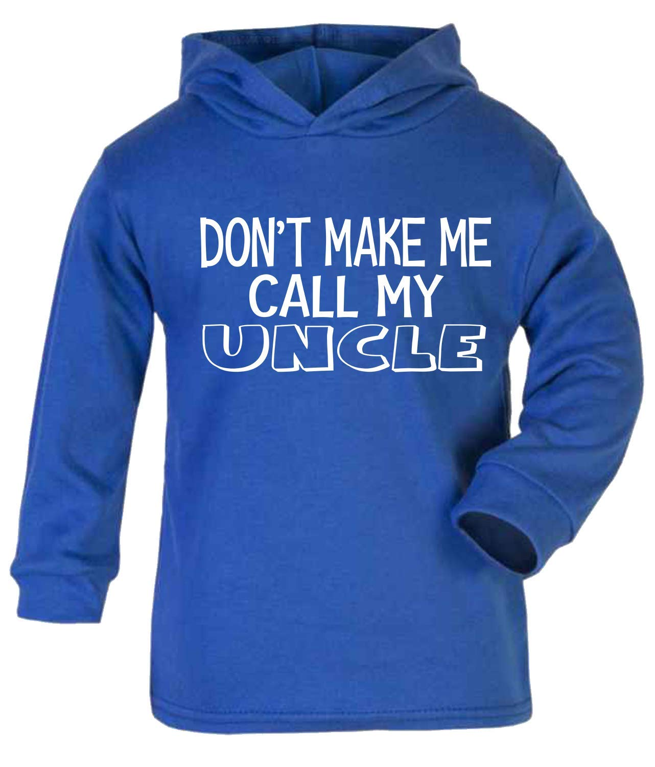 Don't Make me Call My Uncle Baby Hoodie Top Long Sleeved T-Shirt Baby Shower Gifts New Uncle Gift Blue (1-2 Years) ICKLE PEANUT