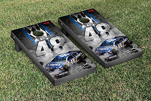 NASCAR Jimmie Johnson #48 Cornhole Game Set Pit Row Version Jimmie Johnson Bean Bag