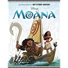 Moana: Coloring Book for Kids and Adults, Disney, Gorgeous Artistic Illustrations
