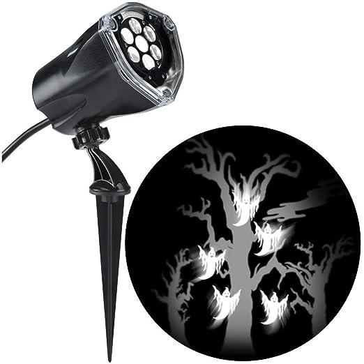 LED de proyección Flying blanco fantasmas con estática Árbol de ...